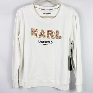 Karl Lagerfeld Paris Embellised Sweatshirt